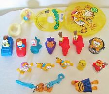 Vintage Lot Of 17 Assorted McDonald's Happy Meal Collectible Garfield Toys 1981