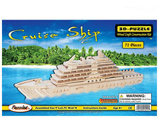 3D Wooden Jigsaw Puzzle (71 Pieces) Construction Craft Wood Kit - Cruise Ship