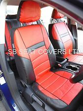 i - TO FIT A PEUGEOT 407 CAR, SEAT COVERS, LEATHERETTE, BLACK/red 59.99