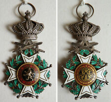 Décoration militaire croix ORDRE DE LEOPOLD Belgique Argent + émail vers 1915