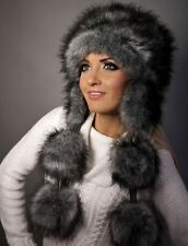 Exclusive Luxury Ladies Women Fluffy Faux Fur Russian Winter Poodle Ski Hat Cap