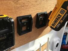 2x stealth batterie mounts pour dewalt xr li-ion batteries de stockage transport tough