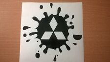 mitsubishi shogun evo warrior vinyl car sticker decal paint mud splat 4x4 funny
