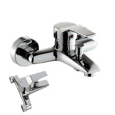 Wall Mounted Bathroom Faucet Tap Shower Mixing Valve Hot & Cold Shower Mixer