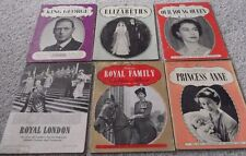 6 QUEEN ELIZABETH II BOOKS,KING GEORGE,ROYAL FAMILY,PRINCESS ANNE,ROYAL LONDON