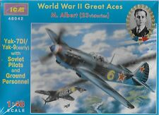 Soviet Yak-7DI/YaK-9 (early) with Pilots & ground cre 1/48 48042 (FREE SHIPPING)