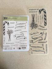Banners For Christmas Photopolymer Stamp Set from Stampin Up BRAND NEW RETIRED