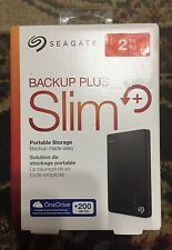 Seagate Backup Plus Slim 2TB Portable External Hard Drive with 200GB of Clo