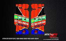 SX SXF EXC radiator louver decals louvre graphics MX 2011 2012 2013 2014 sticker