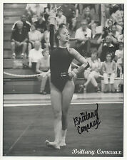 BRITTANY COMEAUX Signed 10X8 Photo NCAA Women's Gymnastics Champion COA