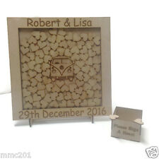 Alternative Wooden MDF Square Shape VW Bus Guestbook Dropbox Wedding Birthday
