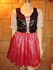 GERMAN BAVARIAN OKTOBERFEST BEER MAID BAR WENCH HEIDI GRETCHEN COSTUME SIZE M/L