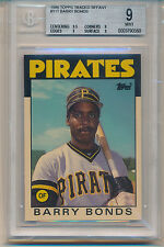 1986 Topps Traded Tiffany Barry Bonds (#11T) BGS9 BGS (#331953863422)
