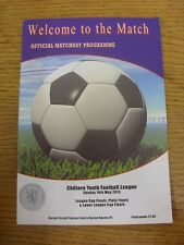 10/05/2015 Programme: Chiltern Youth League - League Cup Finals, Plater Finals &