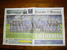 LEICESTER CITY CHAMPIONS SPECIAL EDT. TUESDAY MAY 3RD 2016 MERCURY NEWSPAPER NEW
