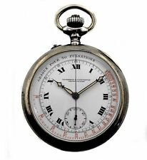 Antique Vacheron & Constantin Doctors & Pilots Chronograph Sterling Pocket Watch