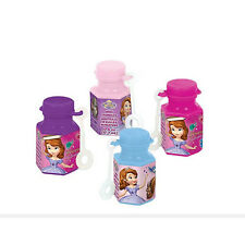 12 Disney Sofia the First Childrens Birthday Party Favor Treat Bubbles