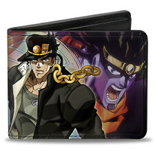 Jojo's Bizarre Adventures Jotaro and Star Platinum Bifold Buckle Down Wallet