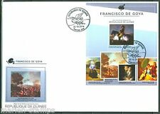 GUINEA 2014 FRANCISCO DE GOYA  PAINTINGS SOUVENIR SHEET FIRST DAY COVER