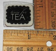 TIME FOR TEA ~  unmounted CLING RUBBER STAMP #LAD-331