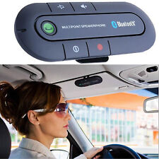 Bluetooth Handsfree Multipoint Speakerphone Car Kit Visor Clip For Samsung HTC