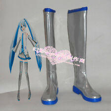 Vocaloid Hatsune Miku Snow Vocaloid Silver Halloween Long Girls Cosplay Shoes Bo