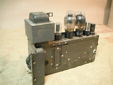 Victor Animatograph Tube Amplifier Power Amp 60B 6L6 Tubes Untested