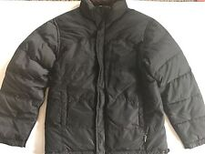 Calvin Klein Reversible Puffer Coat Mens Size S Small Black And Brown Duck Down