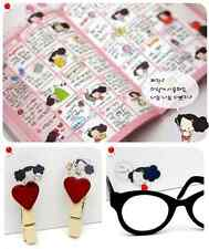#03 DDung cute cartoon girl pvc stickers notebook diary decoration 6 sheets/set