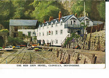 POSTCARD THE RED LION HOTEL CLOVELLY C1950'S