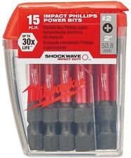 Milwaukee Driver Bits #2 Philips Shockwave 2 in. Impact Duty Steel (15-Pack)