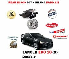 FOR MITSUBISHI EVO X 10 + IMPORT 2.0i 2007--  REAR BRAKE DISCS SET + PADS SET