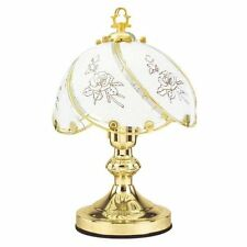 "14"" 60W Traditional Pastrol Polished Brass Bedside Table Touch Light Lamp NEW"