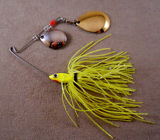 Bass Fishing Lure DR Custom Spinnerbait, 1/4 oz, With 2 Colorado Blades