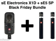 New sE Electronics sE5 SP Stereo Pair + X1D X-1D Drum Microphone Mic Bundle Pack