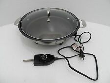 "CucinaPro Stainless Steel Electric Skillet 13"" Home Kitchen Fry Pan Cookware"