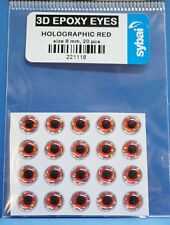 Sybai 3D EPOXY EYES 20 Stück Ø 8mm HOLOGRAPHIC RED
