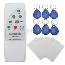 125KHz RFID ID Card Reader Writer Copier Duplicator + 6 Writable Cards/Tags Kit