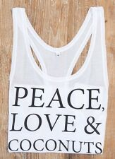 Deliciously Ella Peace Love and Coconuts Vest Size Large  BNWT