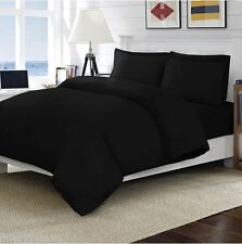 200 THREAD EGYPTIAN COTTON DUVET SET PILLOW CASES FITTED FLAT SHEET ALL SIZES