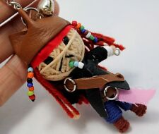 JACK SPARROW VOODOO KEYCHAIN KEY RING  HANDCRAFT HANDMADE STRING DOLL TOY Pirate