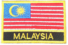 Malaysia Embroidered Sew or Iron on Patch Badge