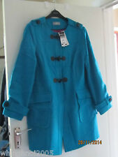 Wallis ladies blue Italian wool coat size 16 new with tags