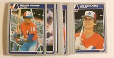 1985 Fleer EXPOS Team Set - Miguel Dilone & Jim Wohlford (NO Dawson)