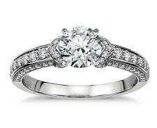 1.73c Brilliant cut Beautiful Engagement ring Real 14K SOLID White gold