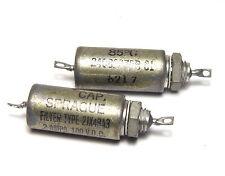 2x sprague Module D'alimentation Filtre 2jx48a3, 2a/100vdc, mil spec avec glasdurchführung