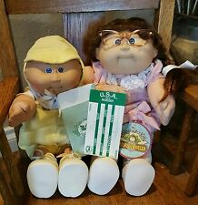 Pair of Vintage Xavier Roberts Cabbage Patch  Dolls World Traveler Ticket Russia