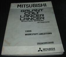 Werkstatthandbuch Mitsubishi Galant Colt Lancer + Station Wagon mit KAT ab 1986!