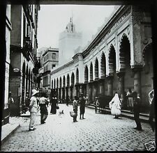 Glass Magic lantern slide  ALGIERS STREET NO1 C1910 ALGERIA