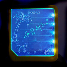 LED Light Fluoresce Writing Board Drawing Panel Tablet Message Note